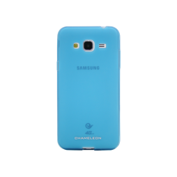 Samsung Galaxy J3 (2016) - Gumiran ovitek (TPUM) - modro-prosojen mat