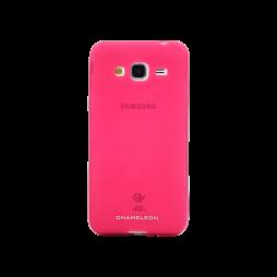 Samsung Galaxy J3 (2016) - Gumiran ovitek (TPUM) - roza-prosojen mat