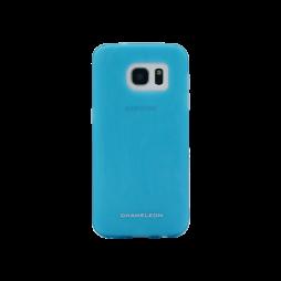 Samsung Galaxy S7 - Gumiran ovitek (TPUM) - modro-prosojen mat