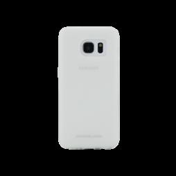 Samsung Galaxy S7 Edge - Gumiran ovitek (TPUM) - belo-prosojen mat