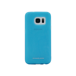 Samsung Galaxy S7 Edge - Gumiran ovitek (TPUM) - modro-prosojen mat