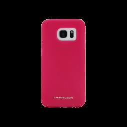 Samsung Galaxy S7 Edge - Gumiran ovitek (TPUM) - roza-prosojen mat