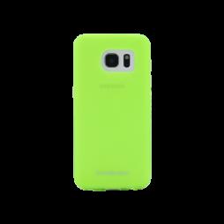 Samsung Galaxy S7 Edge - Gumiran ovitek (TPUM) - zeleno-prosojen mat