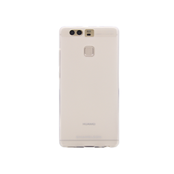 Huawei P9 - Gumiran ovitek (TPUM) - belo-prosojen mat