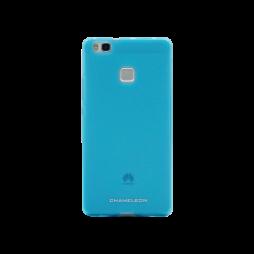 Huawei P9 Lite - Gumiran ovitek (TPUM) - modro-prosojen mat