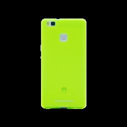 Huawei P9 Lite - Gumiran ovitek (TPUM) - zeleno-prosojen mat