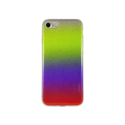 Apple iPhone 7/8/SE (2020) - Gumiran ovitek (TPUB) - rumeno-rdeča