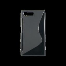 Sony Xperia X Compact - Gumiran ovitek (TPU) - črn SLine