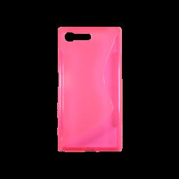Sony Xperia X Compact - Gumiran ovitek (TPU) - roza-prosojen SLine