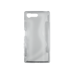 Sony Xperia X Compact - Gumiran ovitek (TPU) - sivo-prosojen SLine