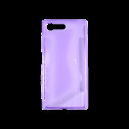 Sony Xperia X Compact - Gumiran ovitek (TPU) - vijolično-prosojen SLine