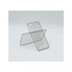 Lenovo Vibe C - Gumiran ovitek (TPUA) - sivo-prosojen