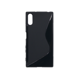 Sony Xperia XZ - Gumiran ovitek (TPU) - črn SLine
