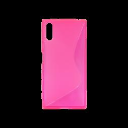 Sony Xperia XZ - Gumiran ovitek (TPU) - roza-prosojen SLine