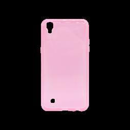 LG X Power - Gumiran ovitek (TPU) - roza-prosojen svetleč