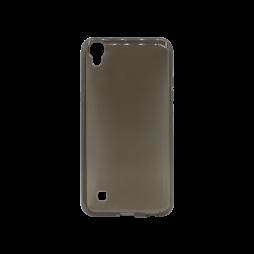 LG X Power - Gumiran ovitek (TPU) - sivo-prosojen svetleč