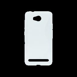 Huawei Y3 II - Gumiran ovitek (TPU) - belo-prosojen SLine