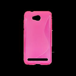 Huawei Y3 II - Gumiran ovitek (TPU) - roza-prosojen SLine