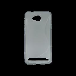 Huawei Y3 II - Gumiran ovitek (TPU) - sivo-prosojen SLine