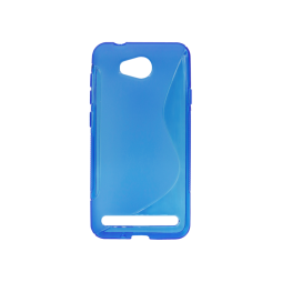 Huawei Y3 II - Gumiran ovitek (TPU) - modro-prosojen SLine