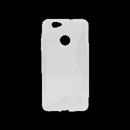 Huawei nova - Gumiran ovitek (TPU) - belo-prosojen SLine