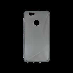 Huawei nova - Gumiran ovitek (TPU) - sivo-prosojen SLine