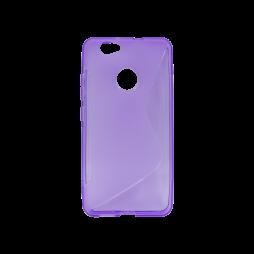 Huawei nova - Gumiran ovitek (TPU) - vijolično-prosojen SLine