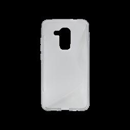 Huawei nova plus - Gumiran ovitek (TPU) - sivo-prosojen SLine