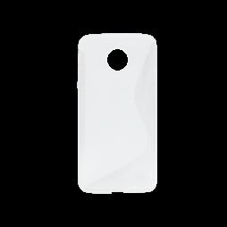 Motorola Moto Z - Gumiran ovitek (TPU) - belo-prosojen SLine