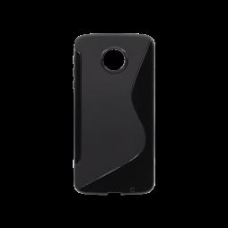 Motorola Moto Z - Gumiran ovitek (TPU) - črn SLine