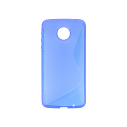 Motorola Moto Z - Gumiran ovitek (TPU) - modro-prosojen SLine