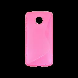 Motorola Moto Z - Gumiran ovitek (TPU) - roza-prosojen SLine