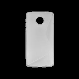 Motorola Moto Z - Gumiran ovitek (TPU) - sivo-prosojen SLine