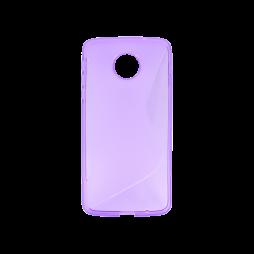 Motorola Moto Z - Gumiran ovitek (TPU) - vijolično-prosojen SLine