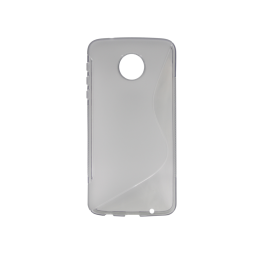 Motorola Moto Z Play - Gumiran ovitek (TPU) - sivo-prosojen SLine