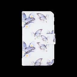 Apple iPhone 5/5S/SE - Preklopna torbica (WLGPD) - Blue&white butterflies