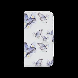 LG K10 - Preklopna torbica (WLGPD) - Blue&white butterflies