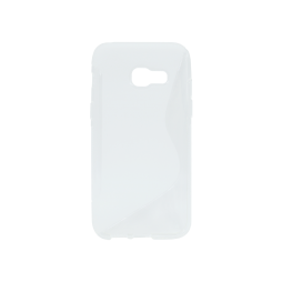 Samsung Galaxy A3 (2017) - Gumiran ovitek (TPU) - belo-prosojen SLine