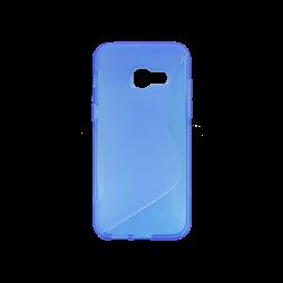 Samsung Galaxy A3 (2017) - Gumiran ovitek (TPU) - modro-prosojen SLine