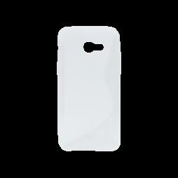 Samsung Galaxy A5 (2017) - Gumiran ovitek (TPU) - belo-prosojen SLine