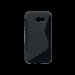 Samsung Galaxy A5 (2017) - Gumiran ovitek (TPU) - črn SLine