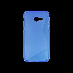 Samsung Galaxy A5 (2017) - Gumiran ovitek (TPU) - modro-prosojen SLine