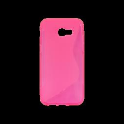 Samsung Galaxy A5 (2017) - Gumiran ovitek (TPU) - roza-prosojen SLine