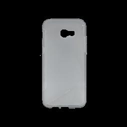 Samsung Galaxy A5 (2017) - Gumiran ovitek (TPU) - sivo-prosojen SLine