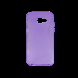 Samsung Galaxy A5 (2017) - Gumiran ovitek (TPU) - vijolično-prosojen SLine