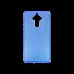 Huawei Mate 9 - Gumiran ovitek (TPU) - modro-prosojen SLine