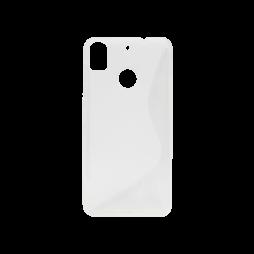HTC Desire 10 Pro - Gumiran ovitek (TPU) - belo-prosojen SLine