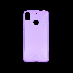 HTC Desire 10 Pro - Gumiran ovitek (TPU) - vijolično-prosojen SLine