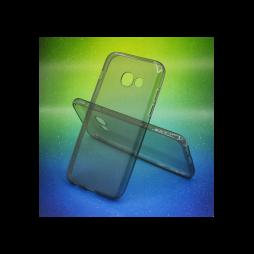 Samsung Galaxy A3 (2017) - Gumiran ovitek (TPUA) - sivo-prosojen