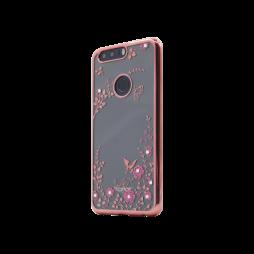 Huawei Honor 8 - Gumiran ovitek (TPUE) - roza rob - roza rožice